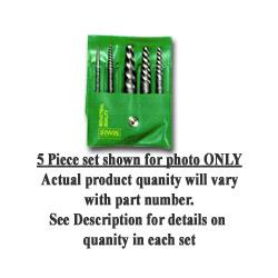 Hanson Spiral-Flute Extractor, Five-Piece Set, EX-1 To EX-5