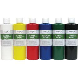 Handy Art Handy Art Tempera Paint, 8oz., 6/ST, Assorted