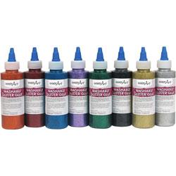 Handy Art Handy Art Washable Glitter Glue, 4oz., 8/ST, Assorted