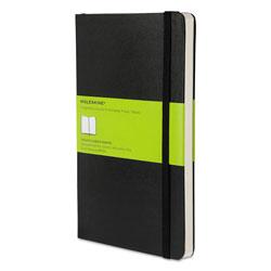 Moleskine Hard Cover Notebook, Unruled, Black Cover, 8.25 x 5, 192 Sheets