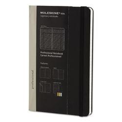 Moleskine Professional Notebook, Narrow Rule, Black Cover, 8.25 x 5, 240 Sheets