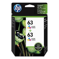 HP 63, (1VV67AN) 2-pack Tri-Color Original Ink Cartridges