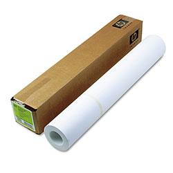 HP Designjet Inkjet Large Format Paper, 6.6 mil, 24 in x 100 ft, White