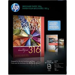 HP Brochure Paper, GE 103, 48lb., 8-1/2 in x 11 in, Matte/White