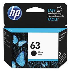 HP 63, (F6U62AN) Black Original Ink Cartridge