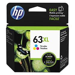 HP 63XL, (F6U63AN) High Yield Tri-Color Original Ink Cartridge