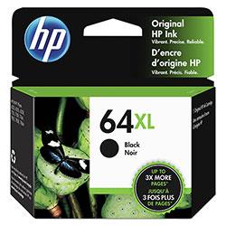 HP 64XL, (N9J92AN) High Yield Black Original Ink Cartridge