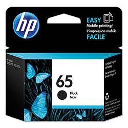 HP 65, (N9K02AN) Black Original Ink Cartridge