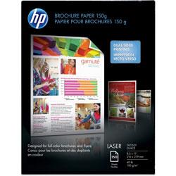 HP Laser Brochure Paper, 40lb, 97GE/113 ISO, 8-1/2 in x 11 in, 50PK, CT, White