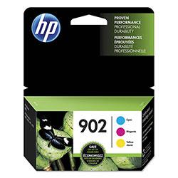 HP 902, (T0A38AN) 3-pack Cyan/Magenta/Yellow Original Ink Cartridges