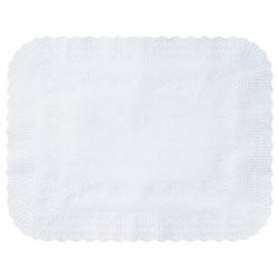 Hoffmaster Scalloped Edge Traymat, Bond Paper, White, 19 1/8 X 14, 1000/carton