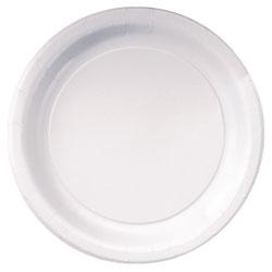 Hoffmaster Coated Paper Dinnerware, Plate, 9 in, White, 50/Pack, 10 Packs/Carton
