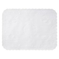 Hoffmaster Anniversary Embossed Scalloped Edge Tray Mat, 14 x 19, White, 1,000/Carton