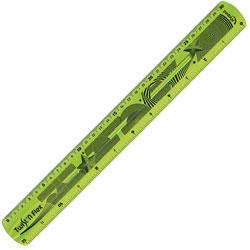 Helix Twist-N-Flex Ruler, 12 in, Ast