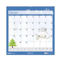 House Of Doolittle 100% Recycled Seasonal Wall Calendar, 12 x 12, 2021