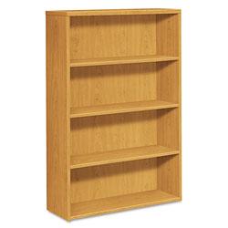 Hon 10500 Series Laminate Bookcase, Four-Shelf, 36w x 13-1/8d x 57-1/8h, Harvest