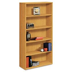 Hon 10500 Series Laminate Bookcase, Five-Shelf, 36w x 13-1/8d x 71h, Harvest