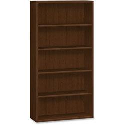 Hon 3-Shelves Bookcase, 36 in x 13 in x 71 in, Mahogany