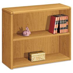 Hon 10700 Series Wood Bookcase, Two Shelf, 36w x 13 1/8d x 29 5/8h, Harvest