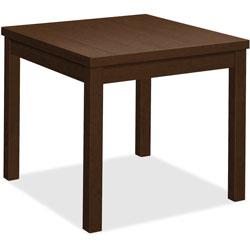 Hon Laminate Corner Table, 24 in x 24 in x 20', Mocha