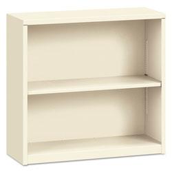 Hon Metal Bookcase, Two-Shelf, 34-1/2w x 12-5/8d x 29h, Putty