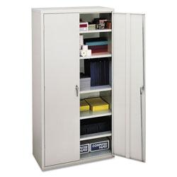 Hon Assembled Storage Cabinet, 36w x 18 1/8d x 71 3/4h, Light Gray