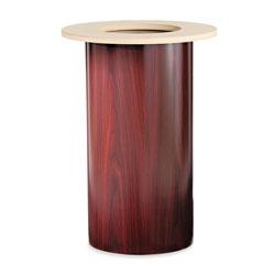 Hon Laminate Cylinder Table Base, 18 in dia. x 28h, Mahogany