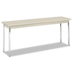 Hon Utility Table, Rectangular, 72w x 18d x 29h, Light Gray