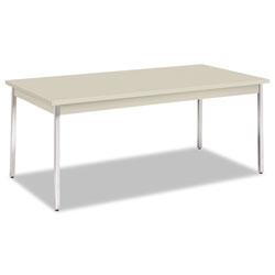 Hon Utility Table, Rectangular, 72w x 36d x 29h, Light Gray