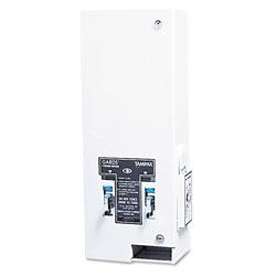 Hospeco Dual Sanitary Napkin/Tampon Dispenser, Coin, 11 1/8 x 7 5/8 x 26 3/8, White