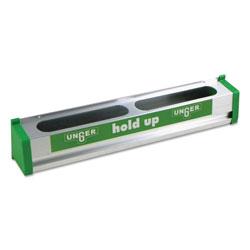 Unger Hold Up Aluminum Tool Rack, 18w x 3.5d x 3.5h, Aluminum/Green