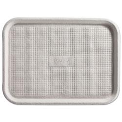 Chinet Savaday Molded Fiber Flat Food Tray, White, 12x16, 200/Carton