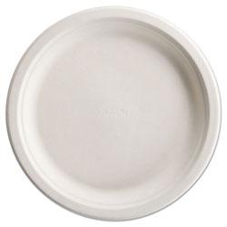 Chinet PaperPro Naturals Fiber Dinnerware, Plate, 10 1/2 in Round Natural 125/PK 4 PK/CT