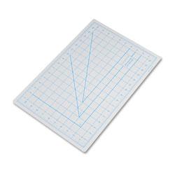 Hunt Self-Healing Cutting Mat, Nonslip Bottom, 1 in Grid, 12 x 18, Gray