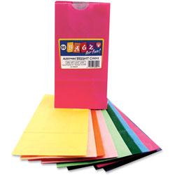 Hygloss Paper Lunch Bags, 4-1/2 in x 2-1/2 in x 8-1/2 in, 50/PK, Ast