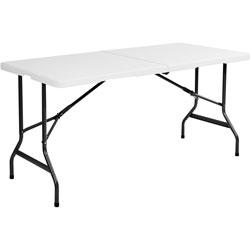Iceberg Bifold Folding Table, 30 in x 96 in, Platinum