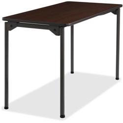 Iceberg Wood Folding Table, 24 inx48 in, Walnut
