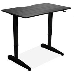 Iceberg Sit-Stand Desk, Mobile, Adj, 59 inx29 inx29 in-46 in, Black