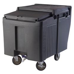 Cambro Ice Caddy 125 Pound Capacity 2 Fixed 2 Swivel 1 Brake Granite Gray
