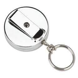 SecurIT® Pull Key Reel Wearable Key Organizer, Stainless Steel