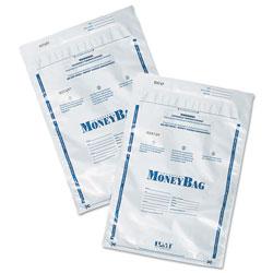 SecurIT® Tamper-Evident Deposit Bags, 9 x 12, Plastic, White, 100 per Pack