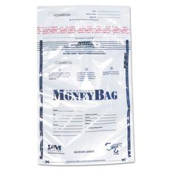 SecurIT® Tamper-Evident Deposit Bags, 9 x 12, Plastic, Clear, 100 per Pack
