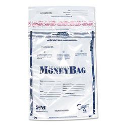 SecurIT® Tamper-Evident Deposit Bags, 12 x 16, Plastic, Clear, 100 per Pack