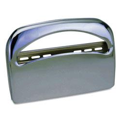 Impact Metal 1/2 Fold Toilet Seat Cover Dispenser, 16.35 x 2.45 x 11.55, Chrome