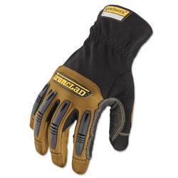 Ironclad Ranchworx Leather Gloves, Black/Tan, X-Large