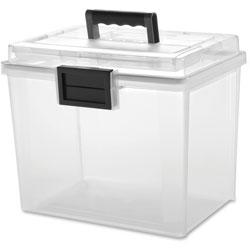Iris Weather Tight Portable File Box, 19Qt, 11.5x10.4 in x 13.8 in, CL