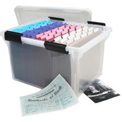 Iris Watertight Clear File Box