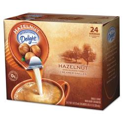 International Delight Coffee Creamer, Hazelnut, 0.4375 oz Liquid, 24/Box