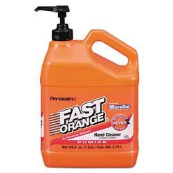Fast Orange Pumice Hand Cleaner, Citrus Scent, 1 gal Dispenser, 4/Carton