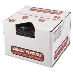 Jaguar Plastics Repro Low-Density Can Liners, 56 gal, 2 mil, 43 in x 47 in, Black, 100/Carton